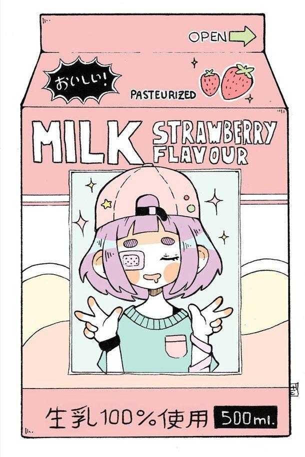 anime girl, japan, kawaii, pastel goth, pink