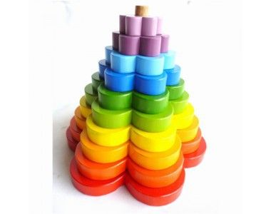 Q Toys Stacking Flowers  (Baby & Child) educational games made fun. Great for fine motor skills, hand/eye coordination and colour recognition.#flower #stacking #toys #kidstoys #woodentoys #educationaltoys #learning #kidsplay