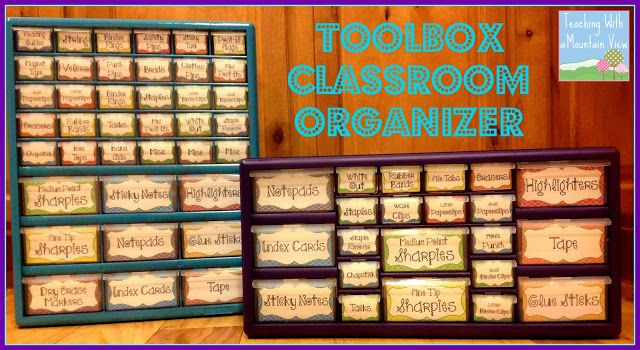 My Very Own Teacher Toolbox Organizer...At last! Free label template included.