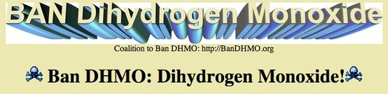 hoax website :: Should the government ban dihydrogen monoxide? There are several hoax websites created around this issue that test students' critical evaluation of sites. After students discover they have been tricked since dihydrogen monoxide is in fact H2O water, move into a discussion about finding reliable sources (including caveats about going straight to Google or Wikipedia). Then review kid-friendly research sites for finding trustworthy information.