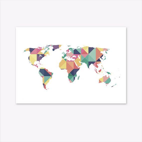 World Map Print, World Map Wall Art, World Map Canvas, World Map Poster, Geometric Print, Geometric Art, Geometric World Map, Pin Board #homedecorideas #homedecoronabudget #homedecordiy #homedecorideasmodern #homeoffice #homedecor #homeideas #wallart #walldecor #wallartdiy #art #print #digital #worldprint #worldmapwallart #worldmapcanvas #worldmap #worldmapposter #geometricprint