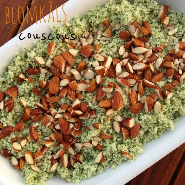 Blomkålscouscous med persille, citron og saltede mandler | Madbanditten | Bloglovin'