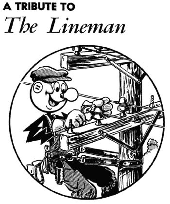 Appreciating our linemen...Ernie and Damie...my sons