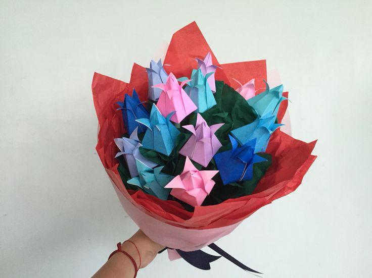 Tulip origami bouquet