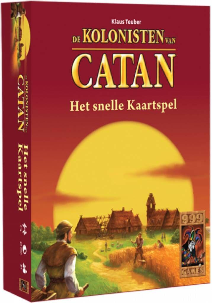 Vlot kaartspel voor 2-4 spelers, gebaseerd op het populaire bordspel De Kolonisten van Catan. Ook in dit kaartspel bouw je straten, dorpen en steden en zet je ridders in. Steden kunnen op verschillende manieren uitgebreid worden. Verder kun je met de andere spelers of met de markt en de gedekte stapel grondstoffen ruilen.   http://www.planethappy.nl/999-games-de-kolonisten-van-catan-het-snelle-kaart.html