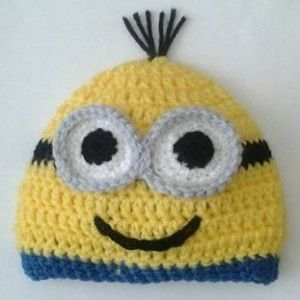 Minion Beanie hat Free Crochet Pattern | Sticks, String, and Caffeine