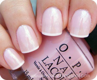 """OPI - """"it's a girl"""" nail polish color."""