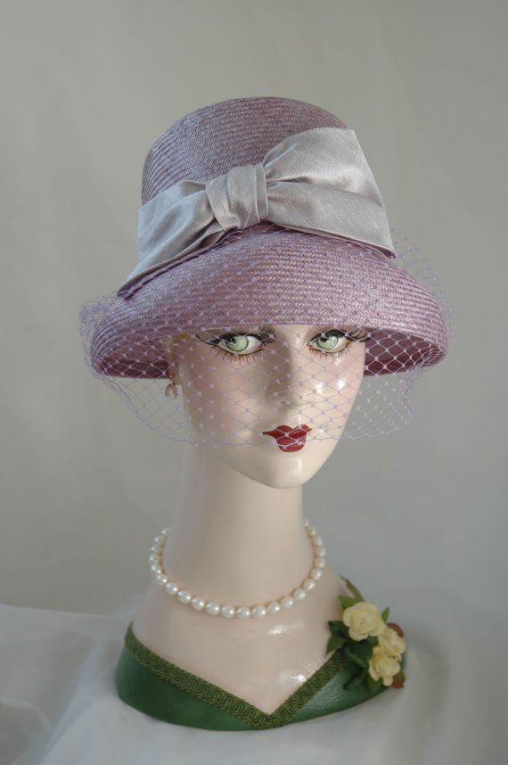 Ladies Tea Party Hats | Elegant Ladies Lavender Straw Tea Hat