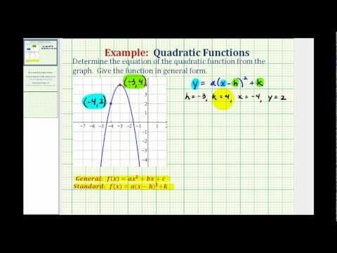 how to find the x intercept from a quadratic