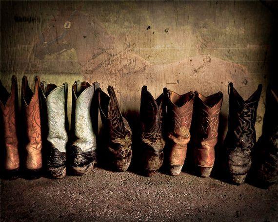 Cowboy Boots in Barn  8x10 Fine Art Print by rbrosseau on Etsy, $20.00