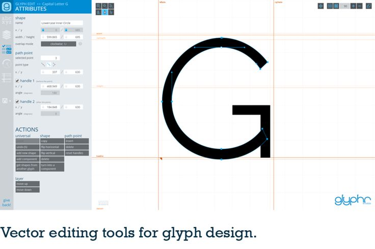 Dessinez vos typos en ligne avec glyphr studio