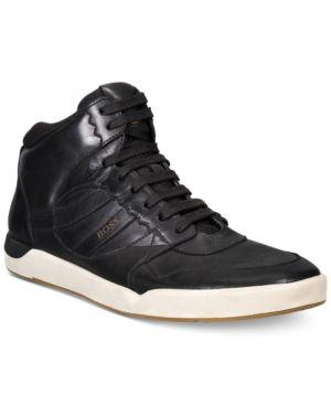 Hugo Boss Orange Men's Stillness High-Top Sneakers - Black 12