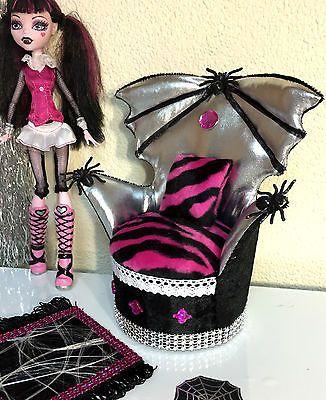 pinkrosemh Couch Sessel Sofa Möbel Furniture für Barbie Monster High Draculaura