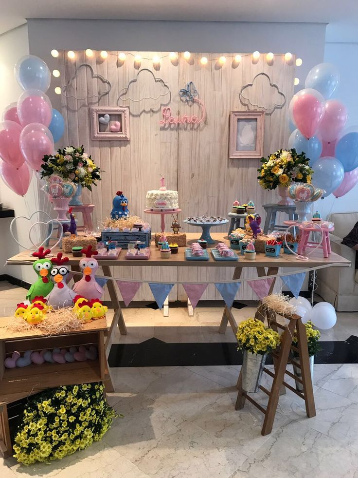 Festa Galinha Pintadinha Baby em Candy Colors