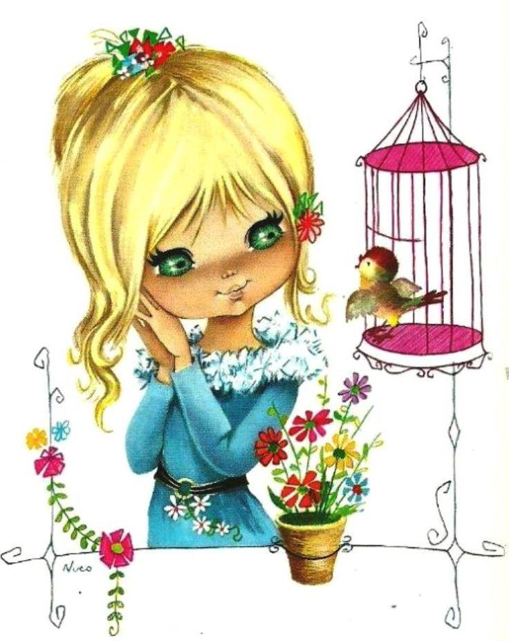 Музыкальные, открытки для девочек птицы