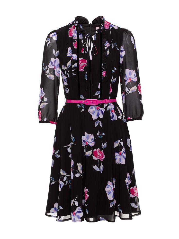 She's Lovely Dress   Black   Chiffon Dresses