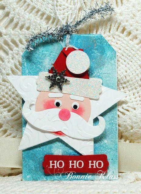 Stamping with Klass: Santa Tag