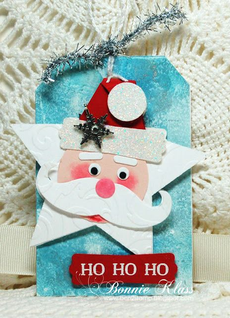 Stamping with Klass: Santa Tag