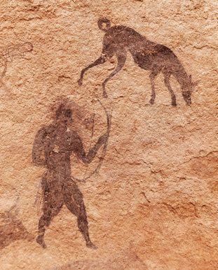 chiens peinture   Chien et chasse peinture rupestre   Chien-dressage-éducation