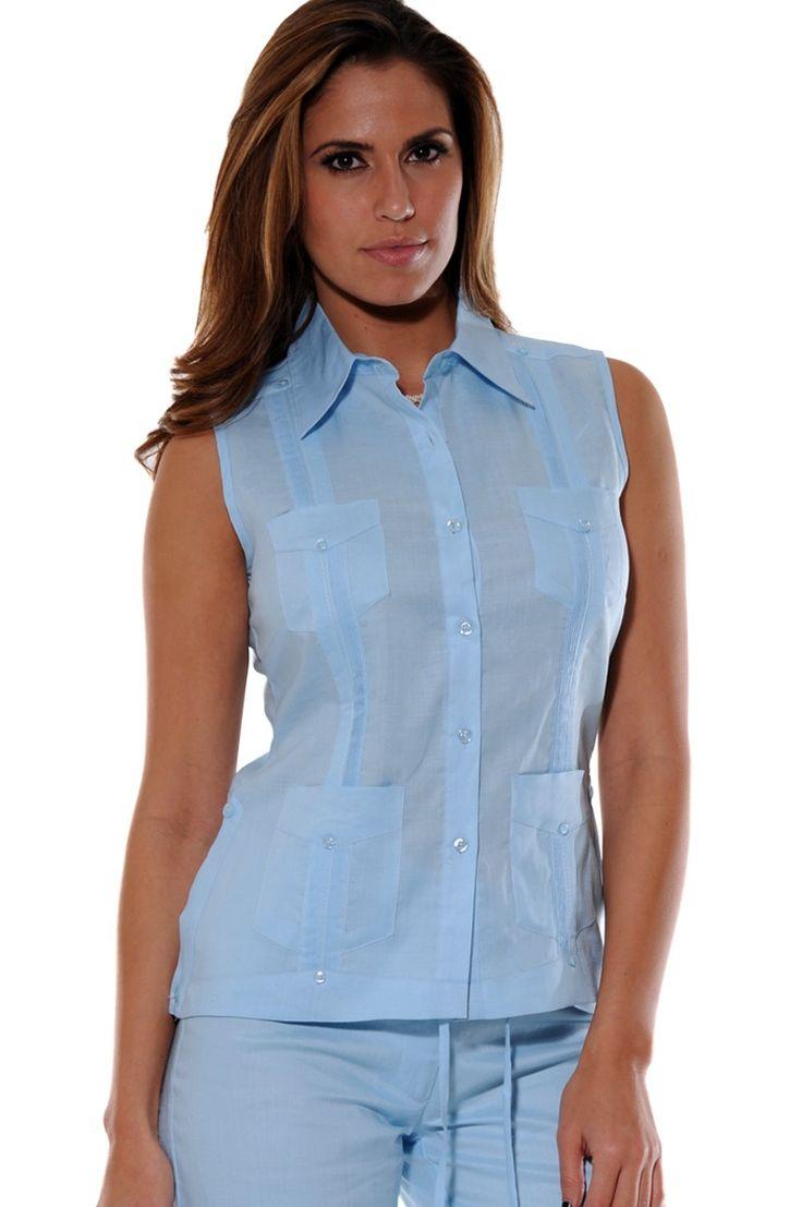 cuban guayabera shirt linen ladies guayabera blouse