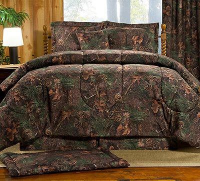 The Maxim Pine Shadows Camo Bedding Set Has A Transitional