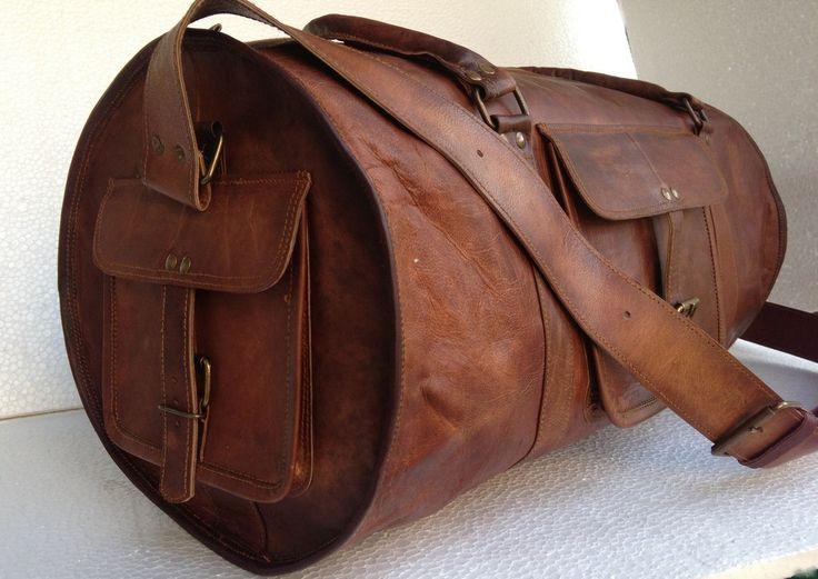 leather duffel