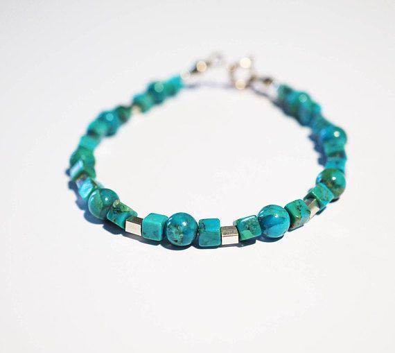 Handmade Sterling Silver Turquoise Bracelet 66g
