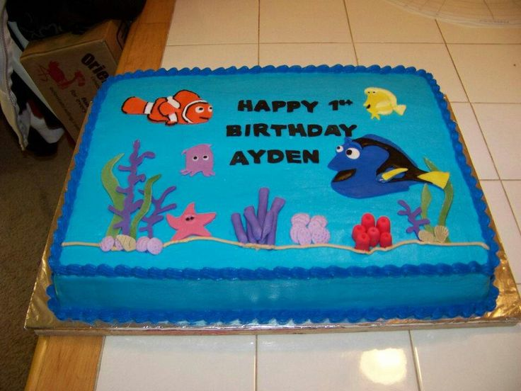 58 best cake decorating images on pinterest anniversary for Nemo cake template