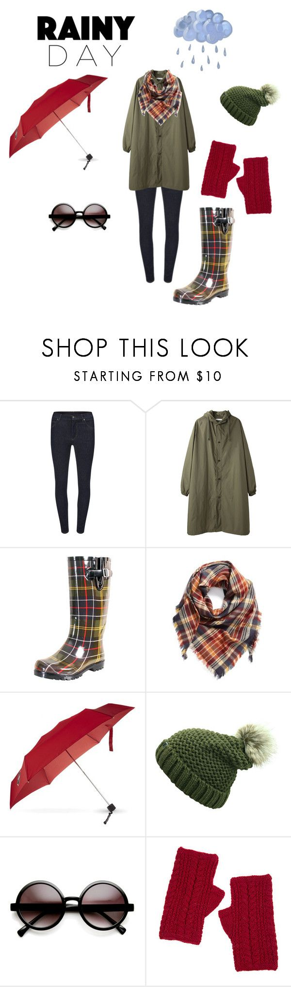 """""""Rain Day"""" by deb-c ❤ liked on Polyvore featuring Cheap Monday, Apiece Apart, Nomad Footwear, BP., Victorinox Swiss Army, ZeroUV and Overland Sheepskin Co."""