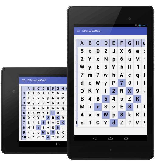 Passwortkarten-App: E-PasswordCard zum Erstellen und Merken sicherer Passwörter - gut in Kombination mit einem Passwort-Manager