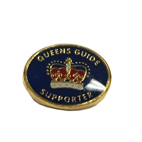 Queens Guide Supporters Metal Badge - GGQ Guide Supplies