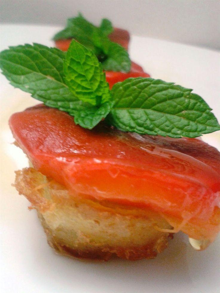 Patate in crosta di gomasio con peperoni e menta | Cucinare Meglio