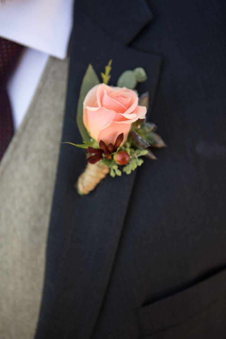 Peach Garden Rose Boutonniere 54 best groom's boutonniere images on pinterest | boutonnieres
