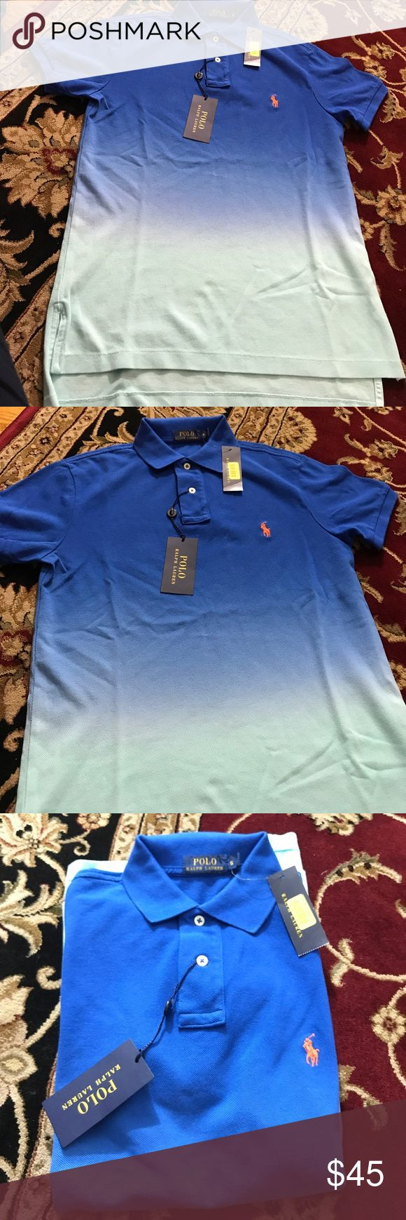Polo Ralph Lauren Mesh Cotton Shirt $98 Size Small Size Small New with tags  My prices are firm and fair 100% Mesh Cotton  Dark and Light Blue Color I guarantee authentication of this shirt.  I can make you a bundle to save money on shipping cost .So please check my other items.  Code : GRE Polo by Ralph Lauren Shirts Polos
