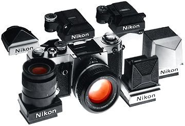 Nikon F2 film camera and Finders system
