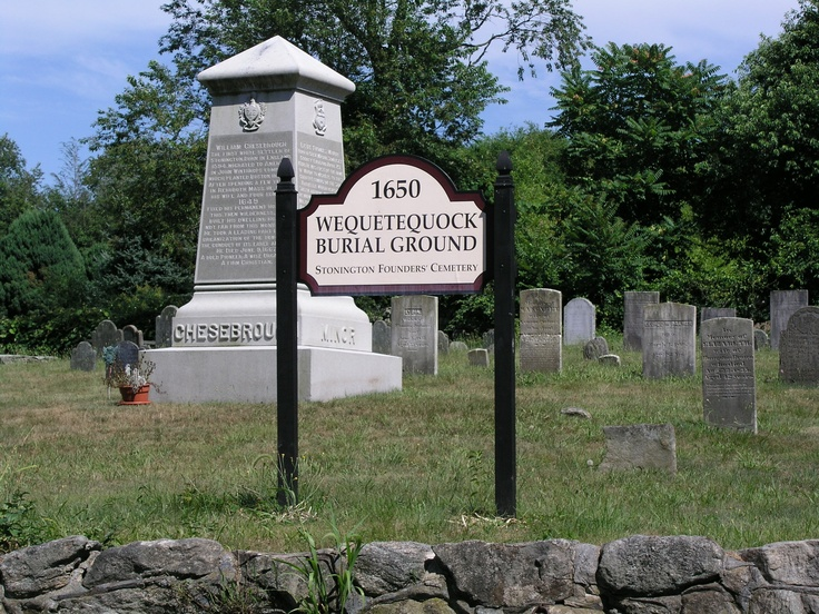 Wequetequock Burial Ground - Ancestor Walter Palmer one of 4 founding fathers of Stonington,CT