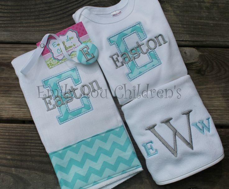 127 best emmy lou baby gifts images on pinterest baby gifts monogrammed personalized baby gift set burp cloth bib bodysuit and pacifier clip custom gift set negle Images