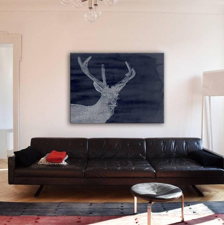 deer canvas by bitten london | notonthehighstreet.com
