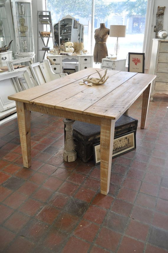 I love this rustic reclaimed cypress farmhouse dining for Dining room table 40 x 60