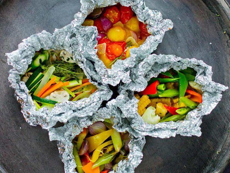 Blandede grønnsaker i folie - perfekt til grillen