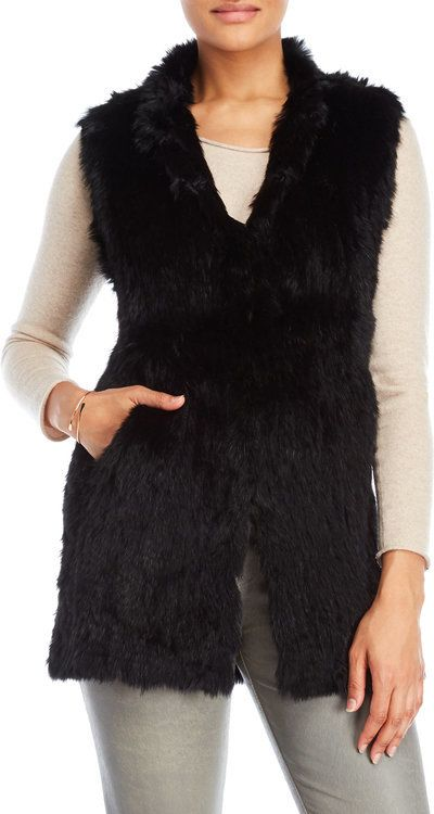 love token Alexa Long Real Fur Vest