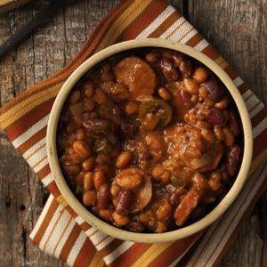 Chuck Wagon Beans: Sausage Recipe, Chuck Wagon Beans Ingredients, Chuckwagon Recipe, Chuckwagon Cooking, Kidney Beans Recipe, Recipe Kidney Beans, Chuckwagon Stew, Chuckwagon Beans, Food Recipe
