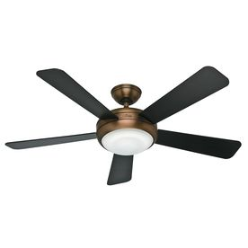Hunter Palermo 52-in Brushed Bronze Downrod or Close Mount Ceiling Fan with Light Kit and Remote ENERGY STAR