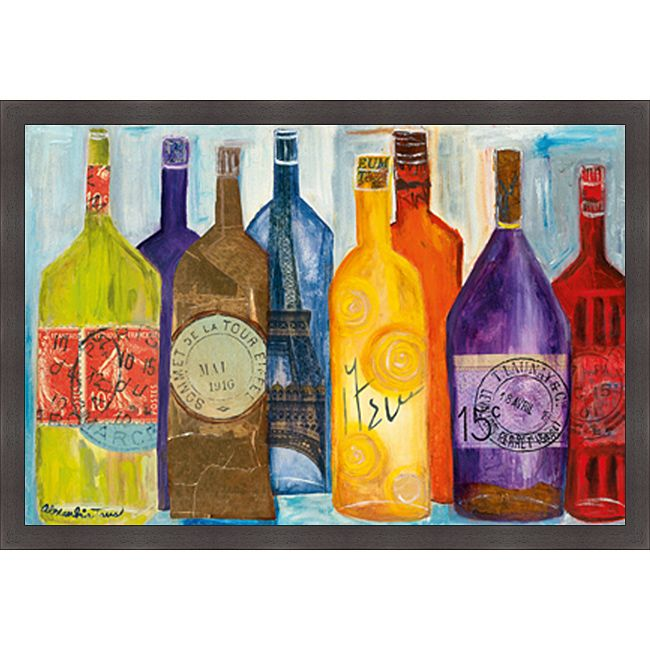 Alexandria Tava 'Vive La Bourgogne' Framed Print, Brown