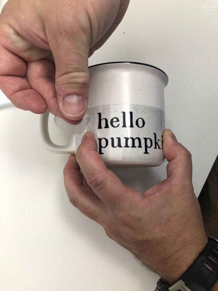 Diy ironon mugs with cricut easypress mini in 2020 mugs