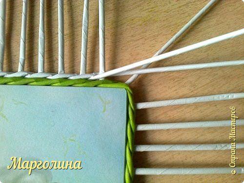 Мастер-класс Поделка изделие Плетение Небольшой МК прямоугольной крышки Как ее делаю я Бумага Бумага газетная Трубочки бумажные фото 1