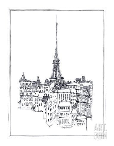 Eiffel Tower Art Print by Avery Tillmon at Art.com