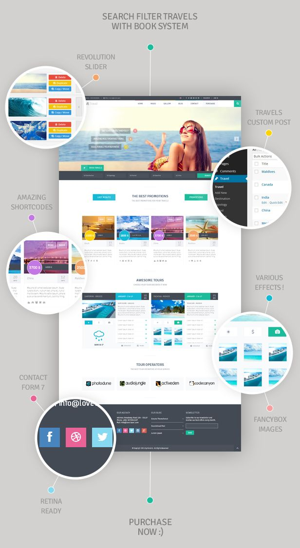 Love Travel | InterAlia WP theme (option 2)
