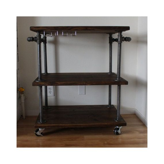 Top 25 Ideas About Industrial Bar Cart On Pinterest Diy Bar Cart Bar Carts And Bar Cart