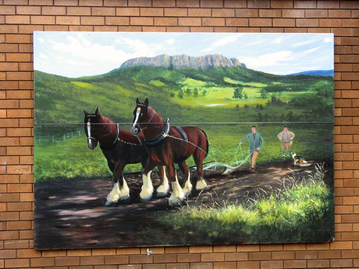 Mural - Sheffield, Tasmania, Australia